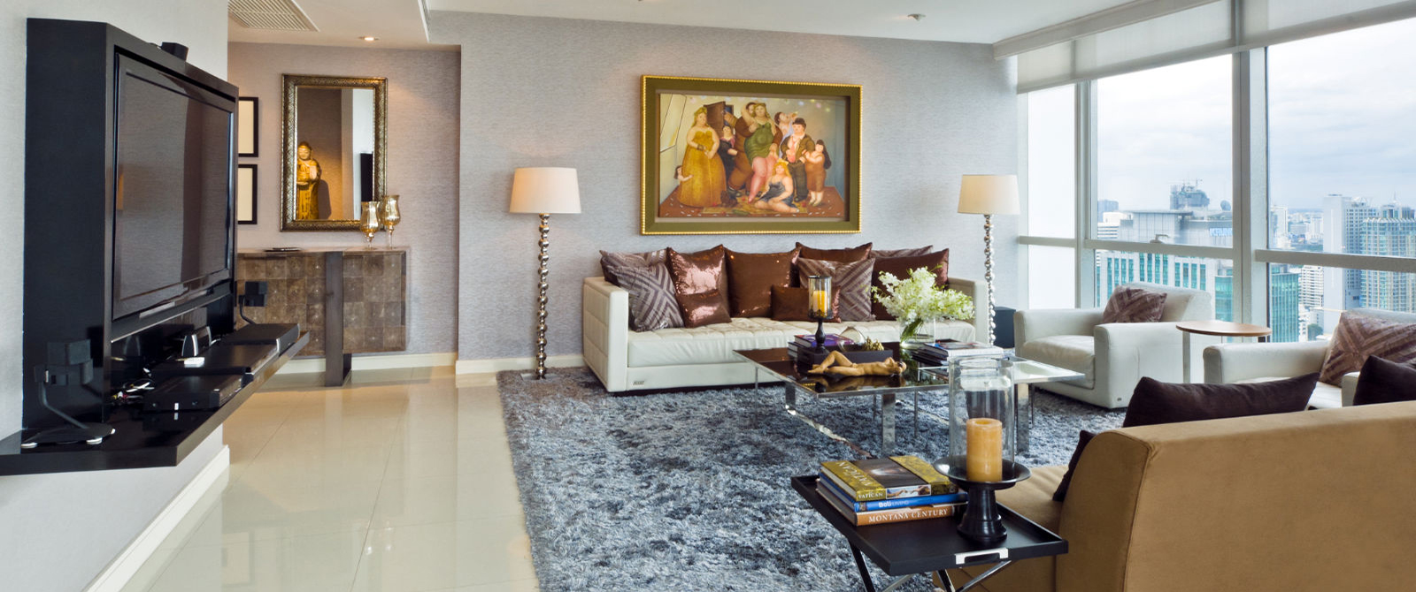 This condo unit was created by the famous designer Modern and well designed