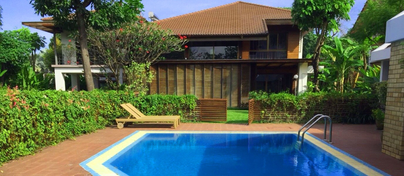 2 storey house with private pool and guest pool villa in tranquil and serene location.